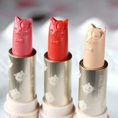 21 Obscenely Pretty Beauty Products That Should Be In A Museum... Paul & Joe Lipsticks, or the best artistic pairing of cat lady life and glamour the world has ever seen? Both.