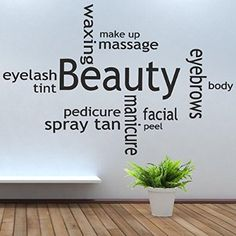 iClobber Beauty Salon Collage Spray Tan Nail Polish Wall Art Mural Sticker Quote Picture Vinyl Art Design Wall Art Mural Sticker Quote Pictu...