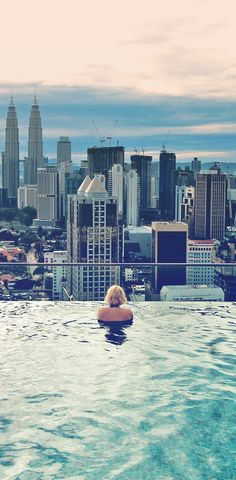 """How can you live a life of travel and earn money while traveling?"""" I hear this question almost on a daily basis. It's time to explain the details...   - via @Just1WayTicket   PS: Photo taken in Kuala Lumpur (Malaysia) at the rooftop pool of Regalia Residences. You can book that place via Airbnb (from $50) a night. Spectacular panorama views..."""