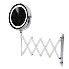 Kenley Extendable Wall Round Shaving Cosmetic Vanity Mirror - LED Illuminated