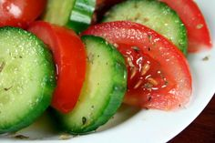 Tomato and Cucumber Salad from Food.com:   								Simple yet satisfying greek salad