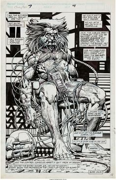 original pages showcasing Barry Windsor-Smith at his best.  1: From Marvel Comics Presents #78 (Marvel, 1991)
