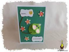 cARTe pop-up : une souris verte....