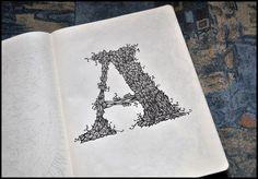 Irina Vinnik Amazing 4 Astonishing Sketchbook Drawings by Irina Vinnik Drawing Journal, Sketchbook Drawings, Sketchbook Pages, Drawing S, Pen Drawings, Graffiti Lettering, Typography Letters, Hand Lettering, Moleskine