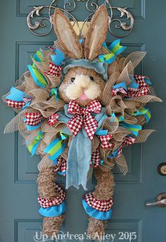 Hey, I found this really awesome Etsy listing at https://www.etsy.com/listing/225879849/spring-bunny-with-legs-wreath-bunny