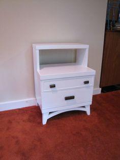 Mid Century Nightstand White Painted Nightstand by CapeCodModern