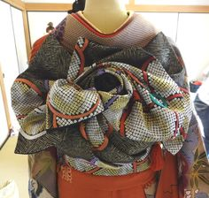 イメージ 4 Recycled Dress, Obi Belt, Yukata, Japanese Kimono, Asian Style, Geisha, Plaid Scarf, Doll Clothes, Costumes