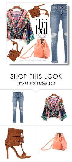 """""""Tribal Blouse"""" by christinacastro830 ❤ liked on Polyvore featuring rag & bone, Steve Madden and Shaffer"""