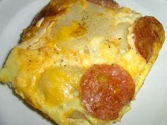 Potato Frittata with Pepperoni Recipe