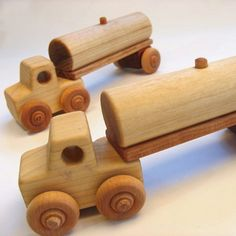 Handcrafted Wooden Tanker Truck Two Pieces by PurcellToys on Etsy