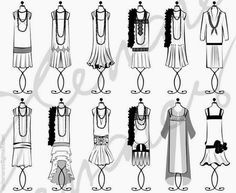 Trends in 1920's Fashion | by Charming Doodle