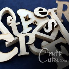 Custom made wood letters in any font and size