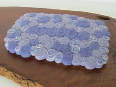 TL31 Rug Standing Wool Cashmere Tabletop Trivet Lavender Rectangle Recycled by MilkweedAndPoppyseed on Etsy https://www.etsy.com/listing/210964762/tl31-rug-standing-wool-cashmere-tabletop