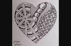 zentangle easy patterns drawings doodle draw facil heart zentangles doodles