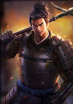 Nagayoshi Mori | Koei Wiki | Fandom powered by Wikia Sengoku Musou, Sengoku Basara, Fantasy Armor, Fantasy Weapons, Fantasy Heroes, Fantasy Characters, Character Inspiration, Character Art, The Last Samurai
