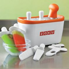I love the Zoku Quick Pop Maker! The kids made pops all morning!! So good with fresh fruit!!! Chocolate milk and Bananas too!