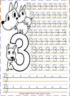 numbers tracing worksheets 7 for kindergarten printable coloring pages for kids child. Black Bedroom Furniture Sets. Home Design Ideas