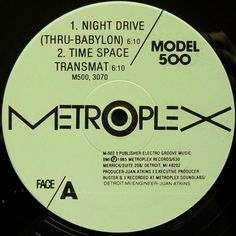 Model 500 - Night Drive. Classic. Remember picking this up for 99 pence in a record store and Dalston and letting my friends Joe and Paul know that I had seen another one there for sale. They both raced down to try to get it before the other. I'm still trying to remember who got there first again...