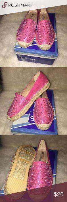 "Super bling out espadrilles. Super cute , comfortable espadrilles with a 1"" platform never worn. Shoes Espadrilles"