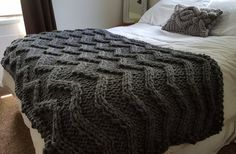 ***This listing is for the PATTERN ONLY – NOT THE FINISHED PRODUCT***  A chevron pattern made by cabling!! No increases or decreases!  If you would like the finished product it is available here: https://www.etsy.com/listing/291877229/chevron-cable-knit-blanket-ready-to-ship  I would rate the difficulty of this pattern as easy. Skills needed are Knit, Purl and Cabling. Measurements are approximately 42 x 80 inches. Materials needed: *Approximately 1400-1500 yards of #5 to #6 bulky yarn. (You…