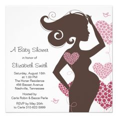 Chic Silhouette Baby Shower Invitation
