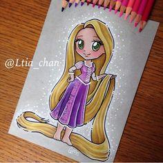 Resplendent Cartoon Drawing Tips Ideas Cute Disney Drawings, Disney Princess Drawings, Disney Princess Art, Disney Rapunzel, Disney Sketches, Disney Fan Art, Cartoon Drawings, Easy Drawings, Kawaii Disney