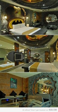 Lol the bat cave...I have a feeling this is what the guy version of a dream master suite would be.