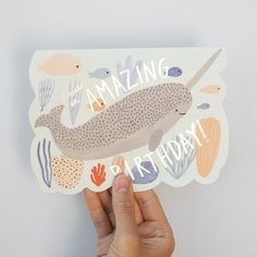 Buy art prints, original paintings, greeting cards, and paper goods illustrated by Kate Pugsley. Stationery Design, Invitation Design, Bunting, Underwater Birthday, Kate Pugsley, Birthday Card Design, Die Cut Cards, Congratulations Card, Birthday Greeting Cards