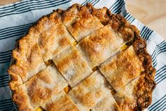 Peach Pie with Tarragon Butter