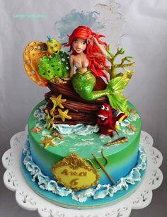 Gorgeous Little Mermaid Cake made by Carmen lordache