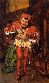 Keying Up The Court Jester (Study) by William Merritt Chase Giclee Print from Beverly A Mitchell Gallery. Medieval Jester, Court Jester, Fable, Oil Painting On Canvas, Art Google, Art Inspo, Cool Art, Fun Art, Giclee Print