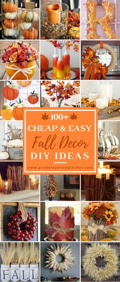 100 Cheap and Easy Fall Decor DIY Ideas 100 Cheap and Easy Fall Porch Decor Ideas - Prudent Penny Pincher Porche Halloween, Fall Halloween, Halloween Ideas, Fall Home Decor, Autumn Home, Fall Table Decor Diy, Fall Decor Outdoor, Diy Autumn, Rustic Fall Decor