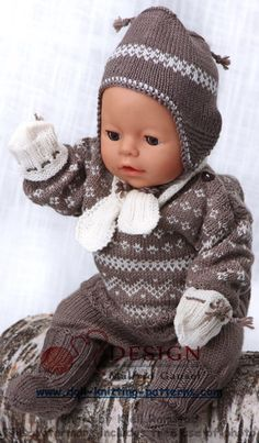 Welcome to Maalfrid Gausel doll knitting patterns store - the most lovely knitting patterns for dolls Knitting Dolls Clothes, Knitted Dolls, Doll Clothes Patterns, Doll Patterns, Baby Born Clothes, Bitty Baby Clothes, Knitting For Kids, Baby Knitting, Crochet Baby