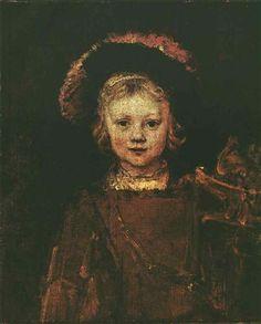 Portrait of Titus - Rembrandt - Completion Date: 1653