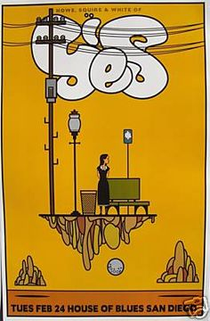 Vintage Yes concert poster. - Hippie, classic rock.