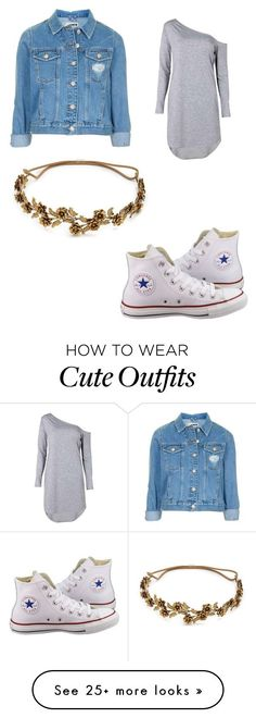 """""""Cute casual outfit"""" by evatsirnika on Polyvore featuring Topshop, Converse and Jennifer Behr"""