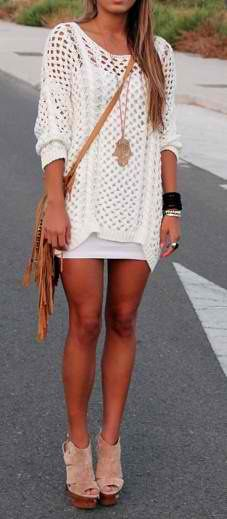 sweater over dress? I& have to try this out , , sweater over dress? I& have to try this out Golden Brown Legs (Heels) sweater over dress? Mode Outfits, Fashion Outfits, Womens Fashion, Fashion Trends, Fashion Shoot, Dress Fashion, Teen Fashion, Fashion 2015, Trending Fashion