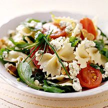 Pasta Salad with Blue Cheese Walnuts and Arugula