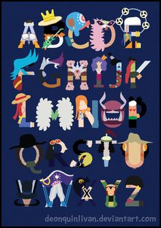 One Piece Alphabet