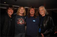 Richie Sambora, Joe Elliott, David Coverdale & Jimmy Page