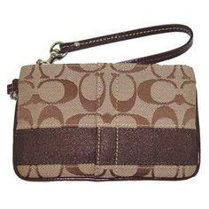 Coach Signature Stripe Wristlet Wallet Bag Case for IPOD Mahogany (Apparel)  http://flavoredwaterrecipes.com/amazonimage.php?p=B003JCXWJW  B003JCXWJW