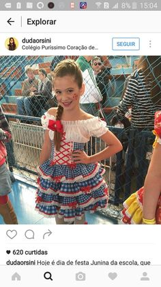 Quadrilha Little Girl Dresses, Girls Dresses, Summer Dresses, Country Outfits, Pageant, Baby Dress, Girl Outfits, Costumes, My Girl