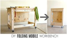 DIY Folding Mobile Workbench - YouTube