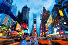 Times Square is the most recognizable intersection in the world, a six-block stretch where Broadway and Seventh Avenue cross, creating a heady vortex of light and energy. #VisitTheUSA #Newyork