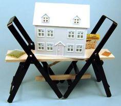 Dollhouse kit on stepladders
