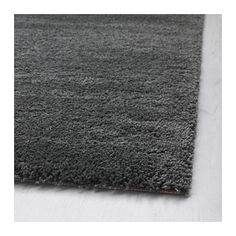 Sanderum rug high pile gray white stains grey and flora for Grey rug ikea