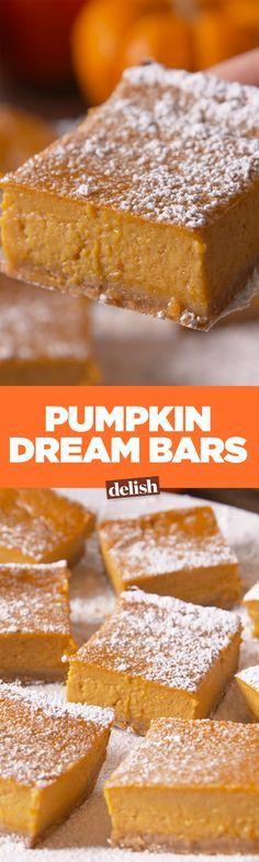 These Pumpkin Dream Bars are gluten-free, but you won't even notice. Get the recipe on Delish.com.