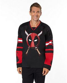 Deadpool Hockey Jersey - Marvel Comics - Spirithalloween.com