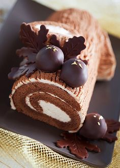 Chestnut mousse log