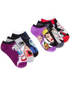 Disney Women's Assorted Villains No Show Socks 6 Pack